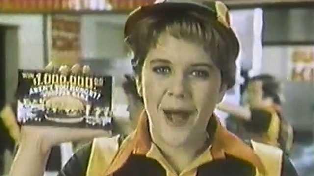 Meg Ryan in 1983 Burger King commercial