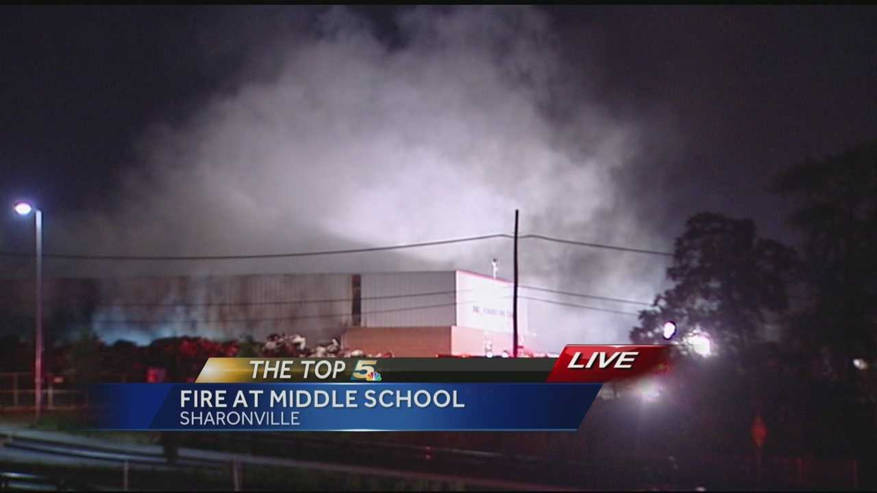 Fire burns at old Princeton Middle School