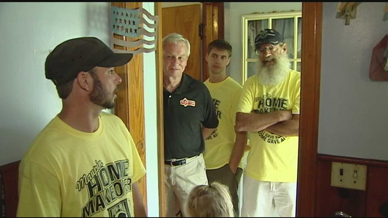 Volunteers surprise Keith Maupin with home makeover
