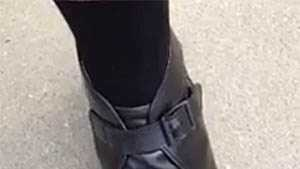 The buckle boot that troopers are issued.