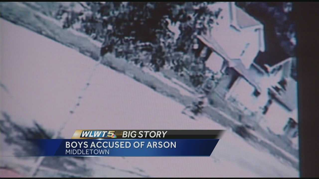 Police: Neighbor's security cam caught boys, 8 and 9, setting fire