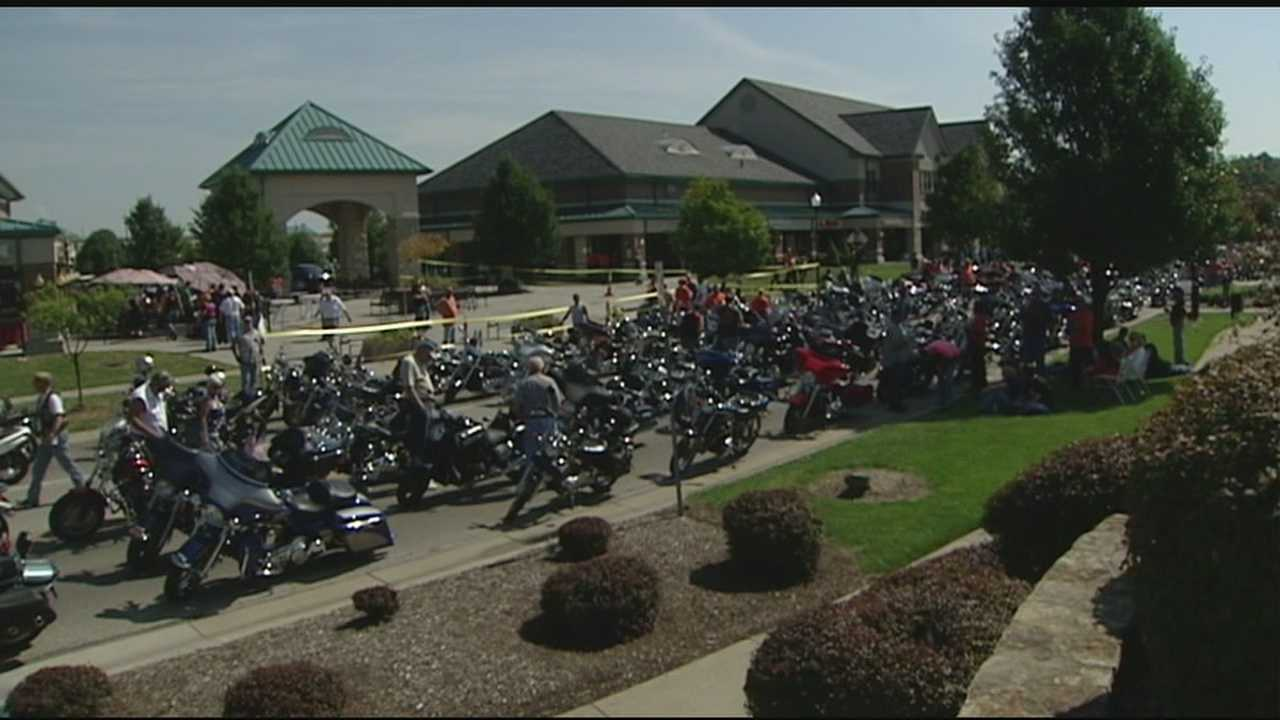 Several hundred motorcycle riders took part in an annual ride for wounded soldiers.