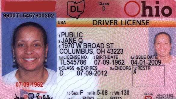 Ohio driver's license generic older