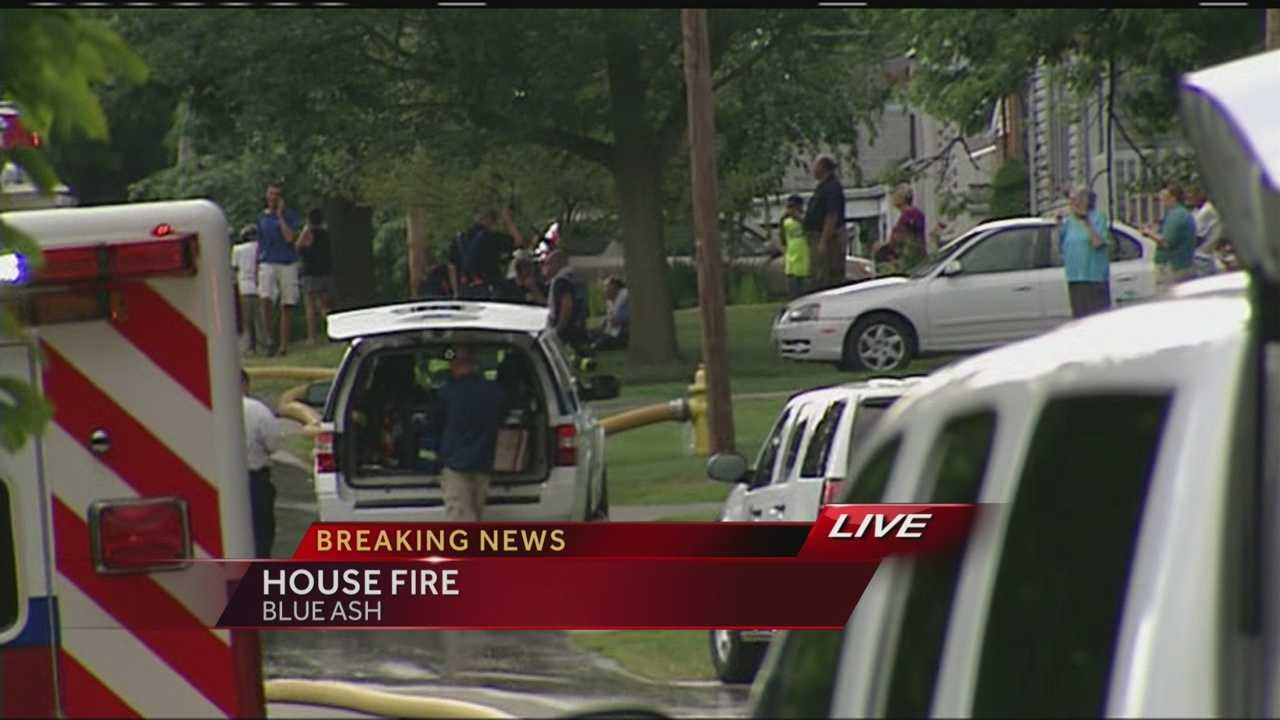 House catches fire in Blue Ash