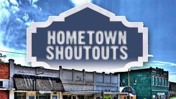 hometown shoutout graphic