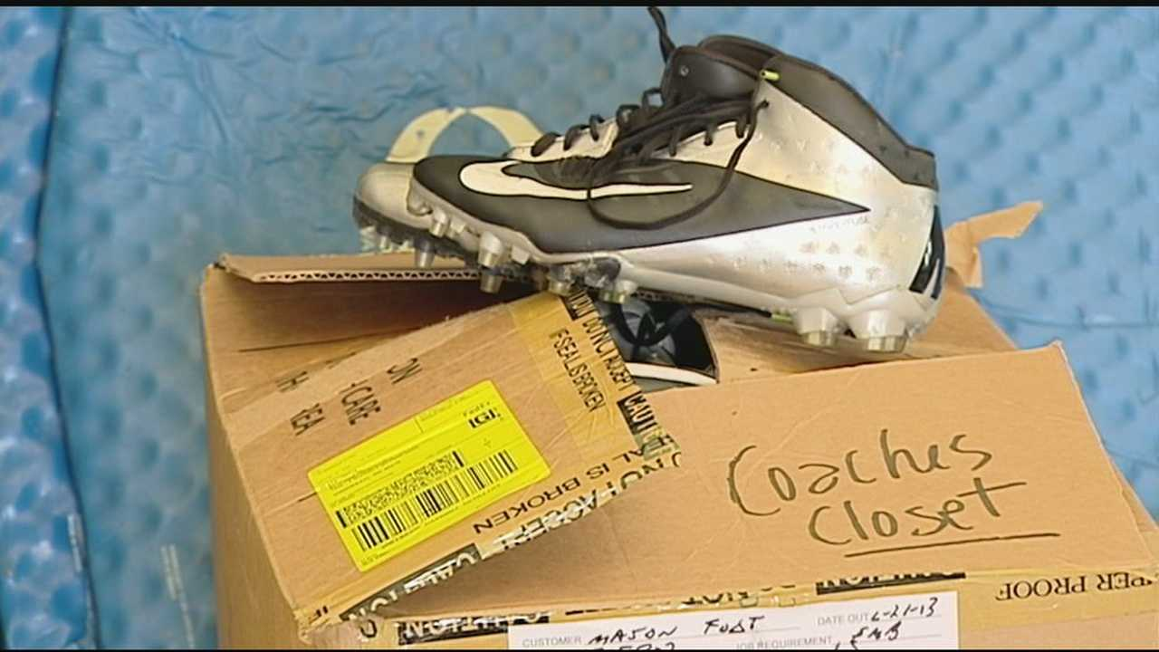 "A group of Mason football players collected athletic equipment for students who may not be able to afford it. WLWT's Erik Zarnitz took a look in the ""Coach's Closet""."