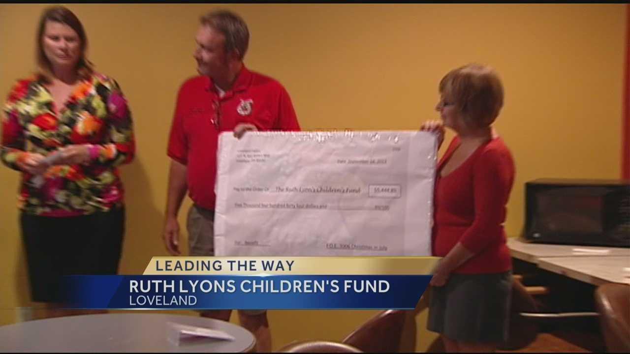 Ruth Lyons Children's Fund Check Presentation