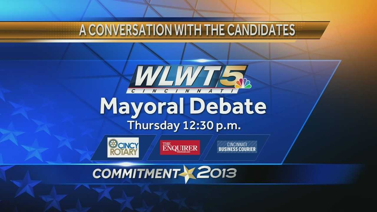 Mayoral debate graphic