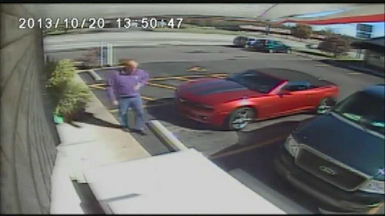 Officials seeking man in surveillance video in Kentucky bourbon heist