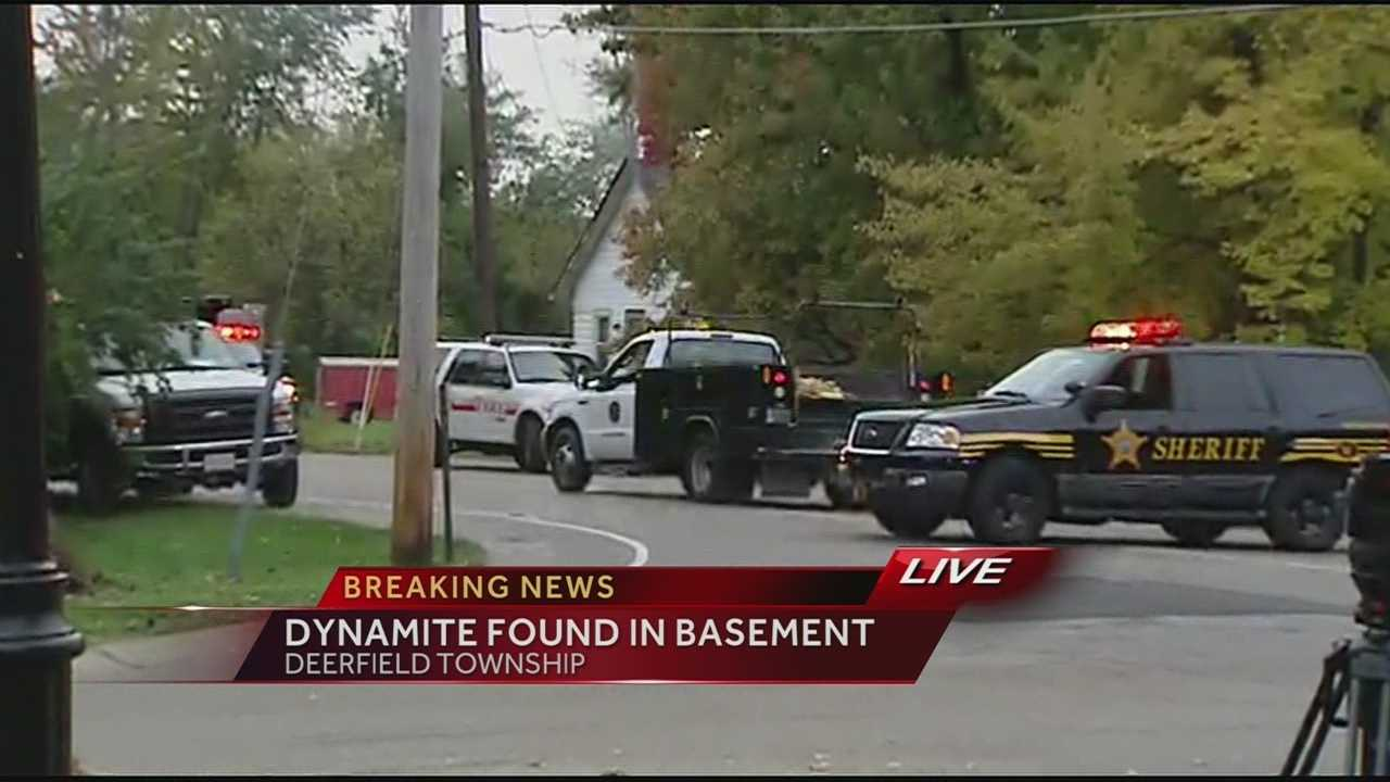 Dynamite found in basement of home in Deerfield Township home