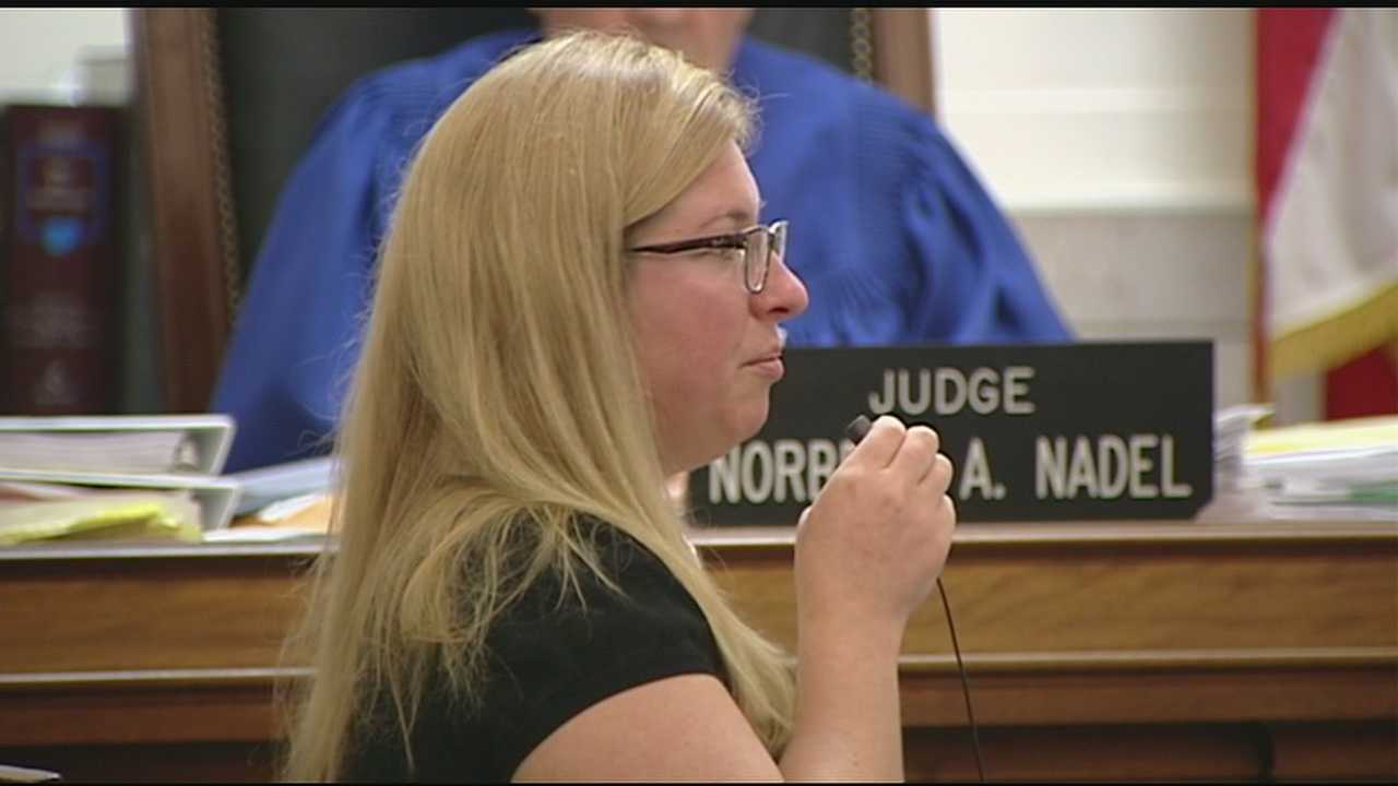 Julie Hautzenroeder, 36, took the stand Wednesday after the prosecution rested its case.