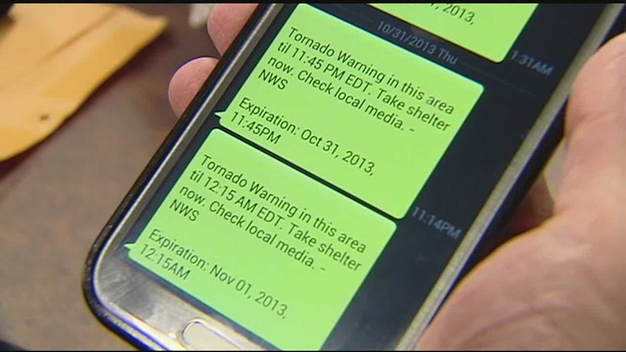 Phones alerted overnight for tornadoes not in their area