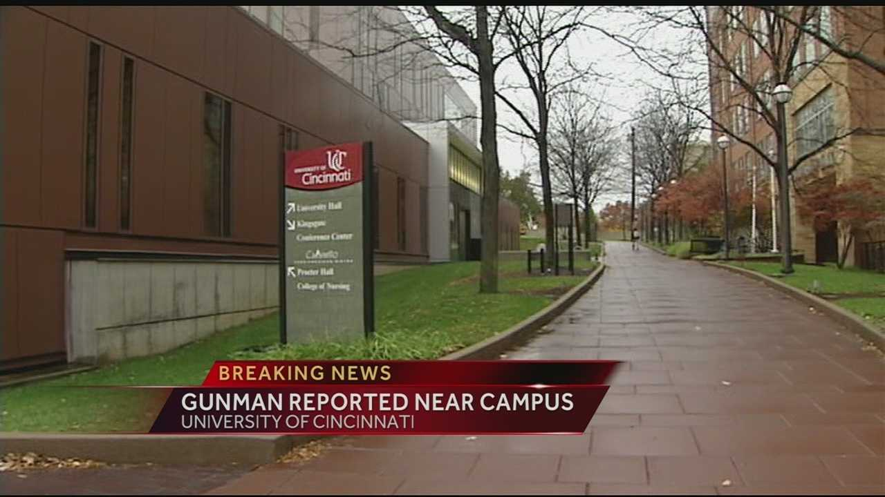 A 911 call was made from the University of Cincinnati Wednesday with reports of a gunman in the area.