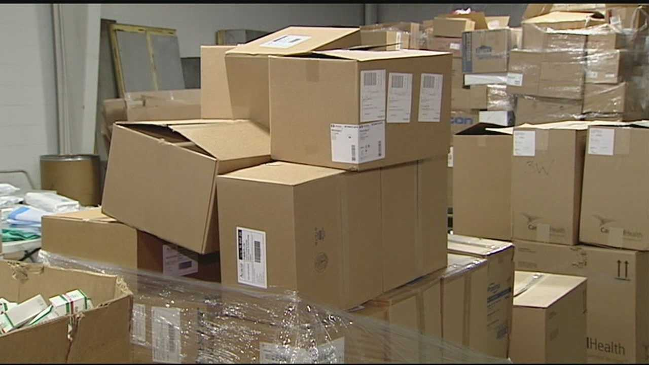 Volunteers gather supplies to send to Philippines
