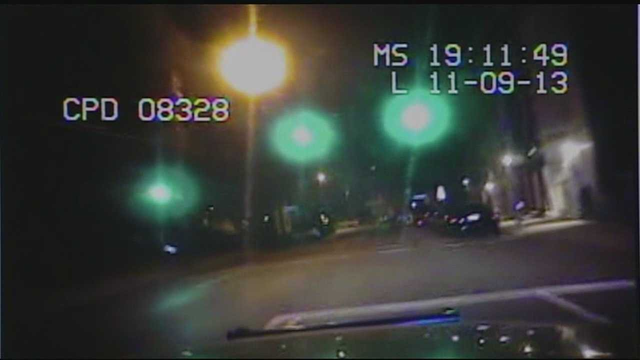 Police said surveillance cam on building panned away before impact