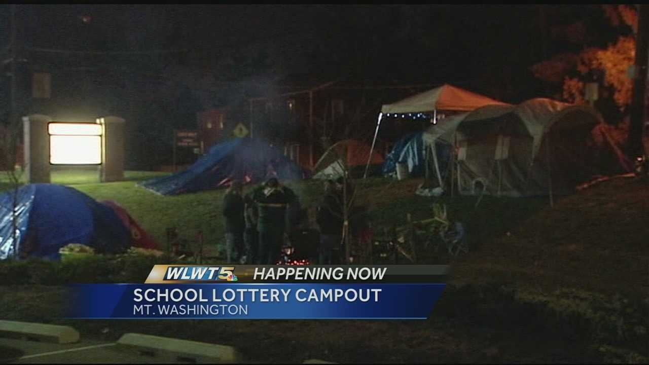 Parents in Mt. Washington camp out to ensure child's spot in school