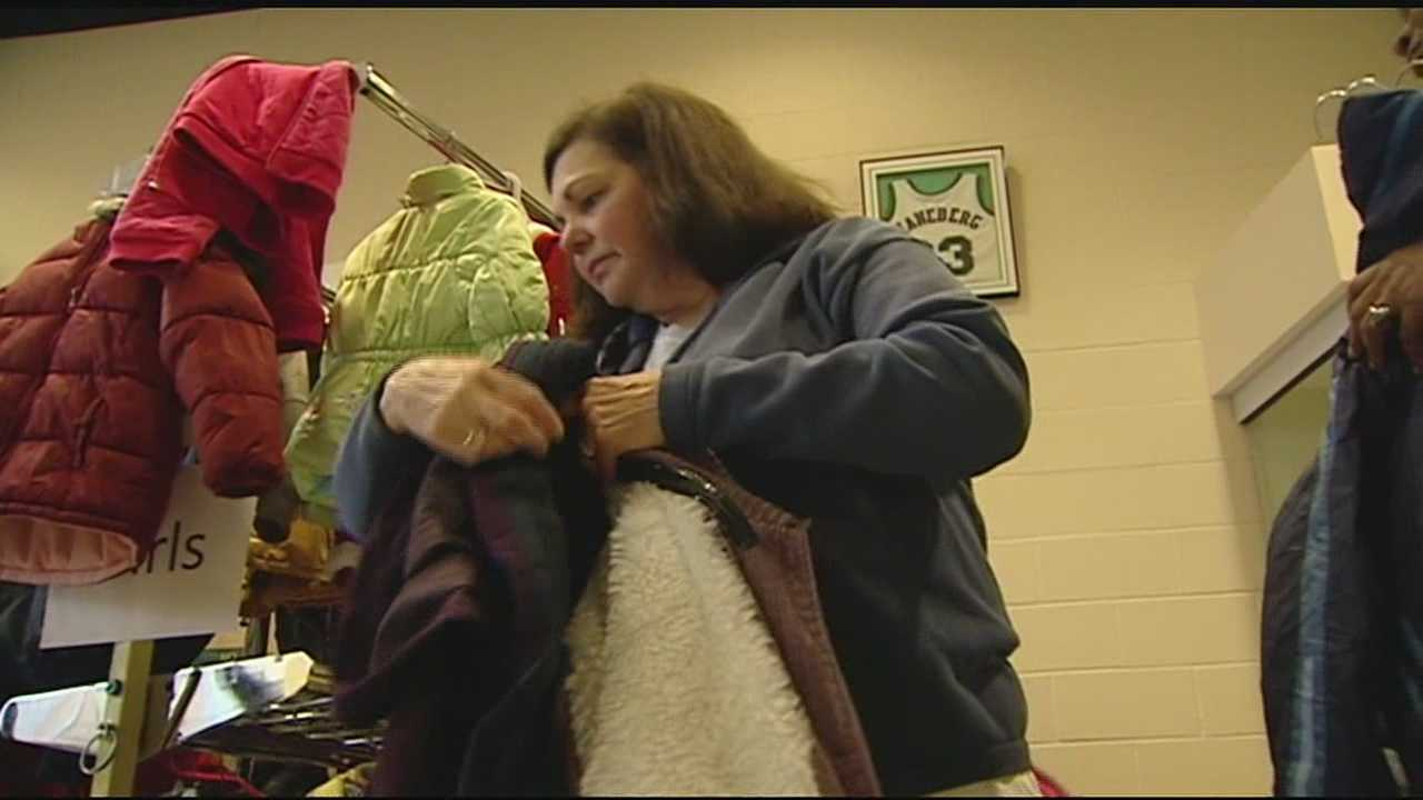 Tri-State residents are giving again during this year's annual 5 Cares Coat Drive. The first coat distribution took place Saturday at Seton High School.