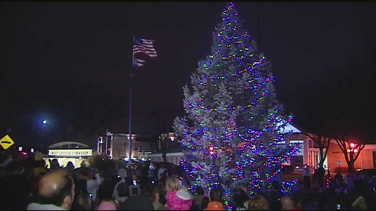 West Chester celebrates Christmas parade, tree lighting