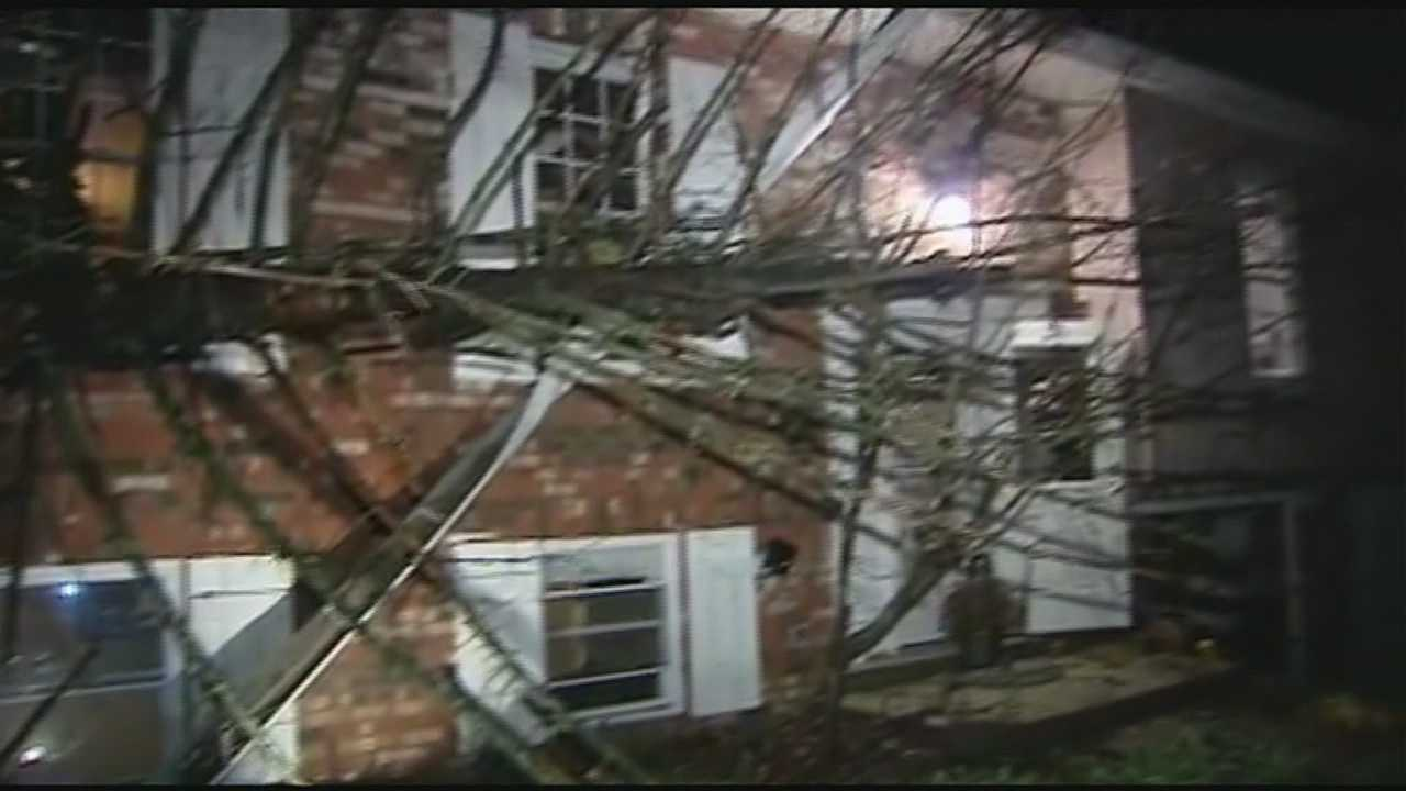 Across the Tri-State, trees downed power lines and landed on cars and houses. At the height of the storm, about 33,000 Duke Energy customers lost power.