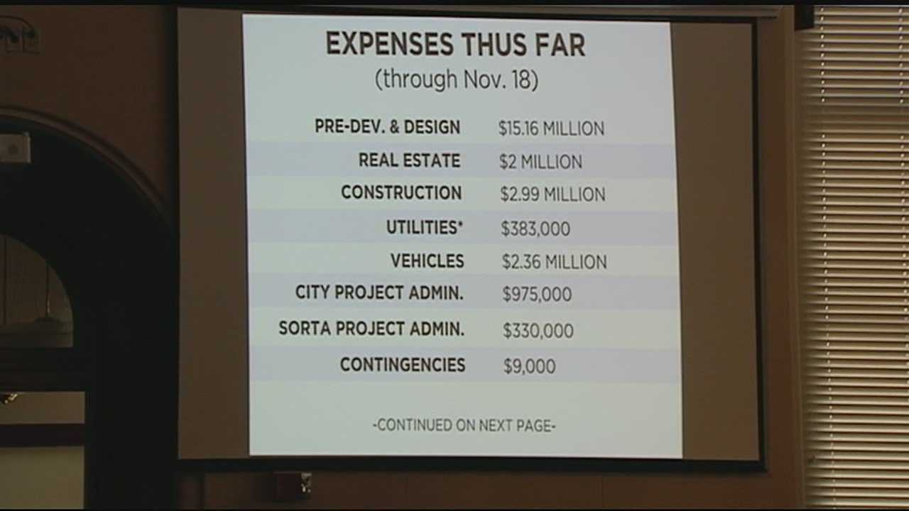 Project executive John Deatrick told the Cincinnati City Council that the estimated costs of cancellation, including money already spent, would be somewhere between $63 million and $80 million, plus $45 million in federal funds that would have to be returned immediately upon the termination of the project.