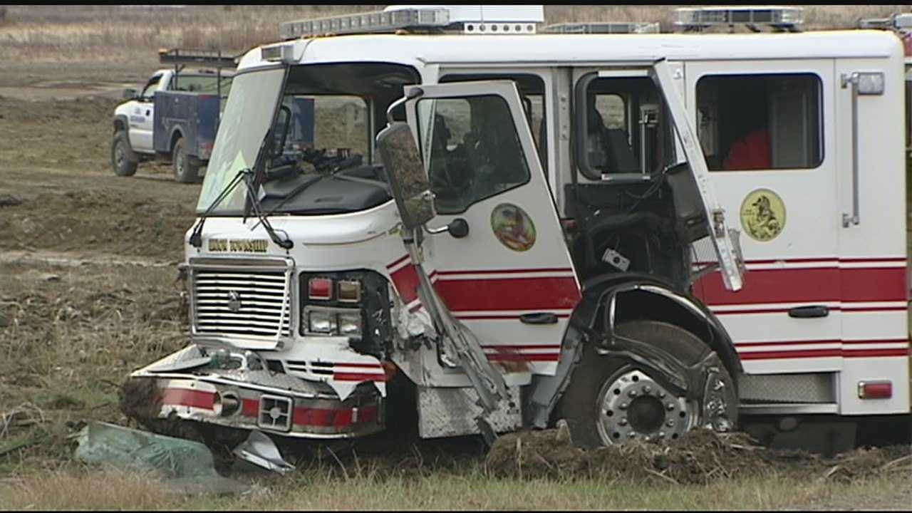 Multiple injures reported after fire truck, dump truck accident