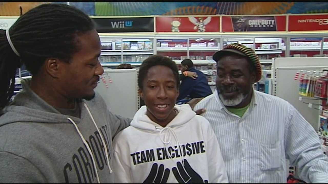 60 kids taken on shopping spree with Bengals players
