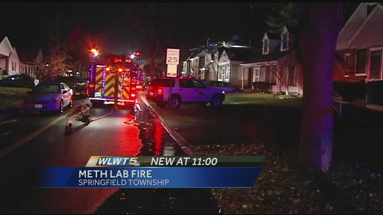 Springfield Township police and firefighters were called to the 8300 block of Jadwin Street just before 7 p.m. for an explosion and fire.