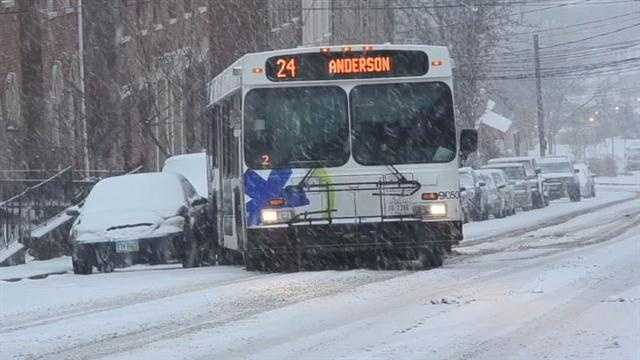 img-Raw Bus hits car on Liberty Hill