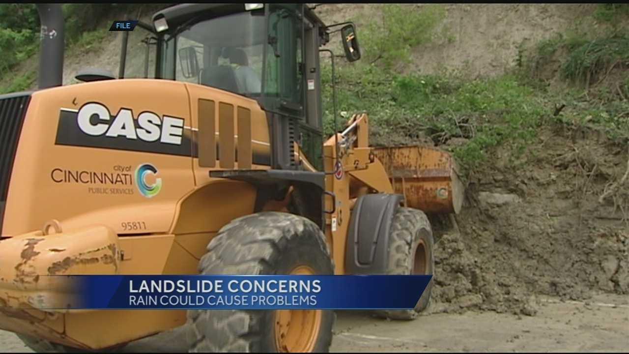 Rain causes landslide concerns