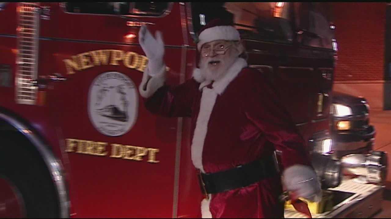 Newport Fire Dept. helps Santa visit families