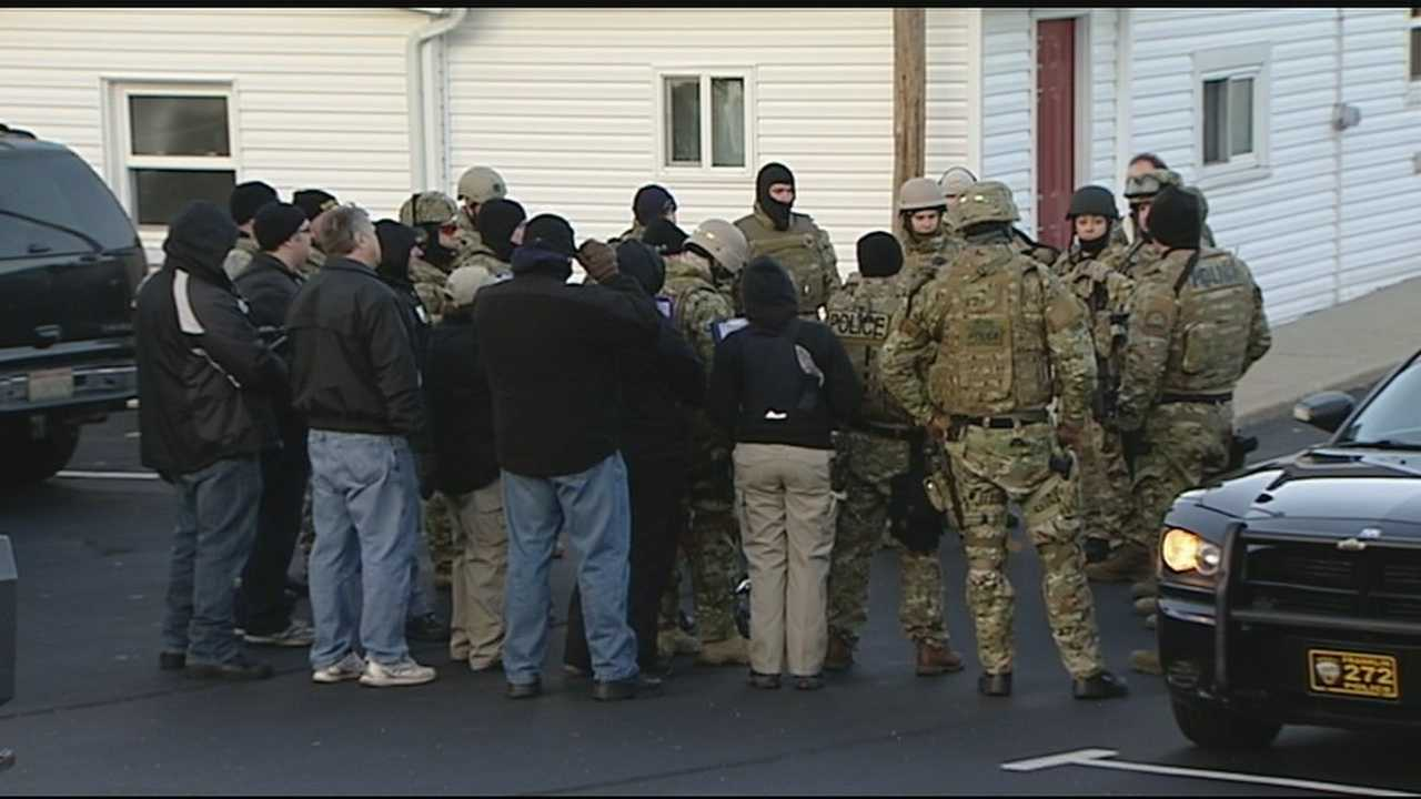 Franklin police were in standoff with burglary suspect Thursday