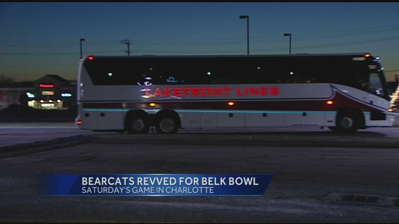 Bearcats fans head for Charlotte for Belk Bowl Saturday