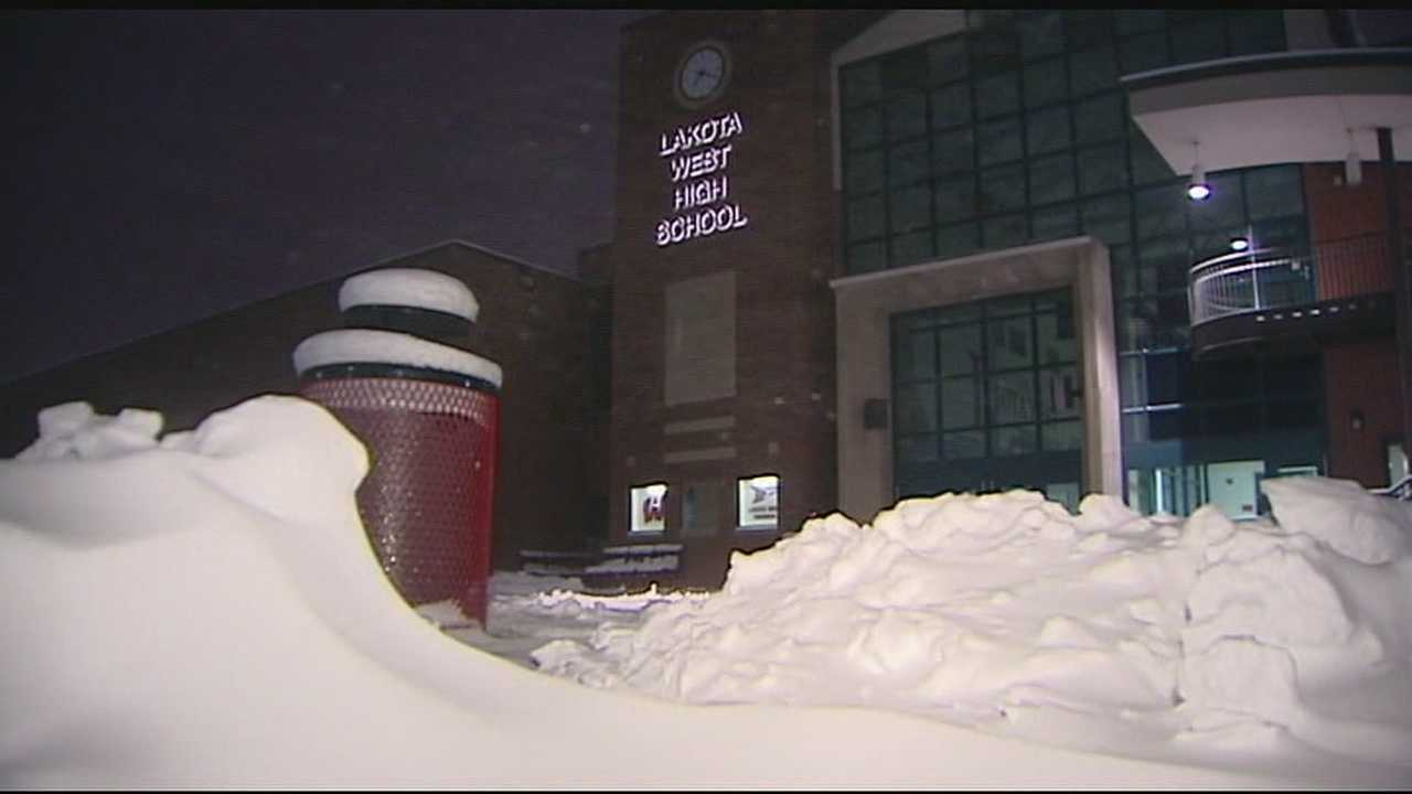 In West Chester, Lakota Schools officials decided to cancel Friday classes early.