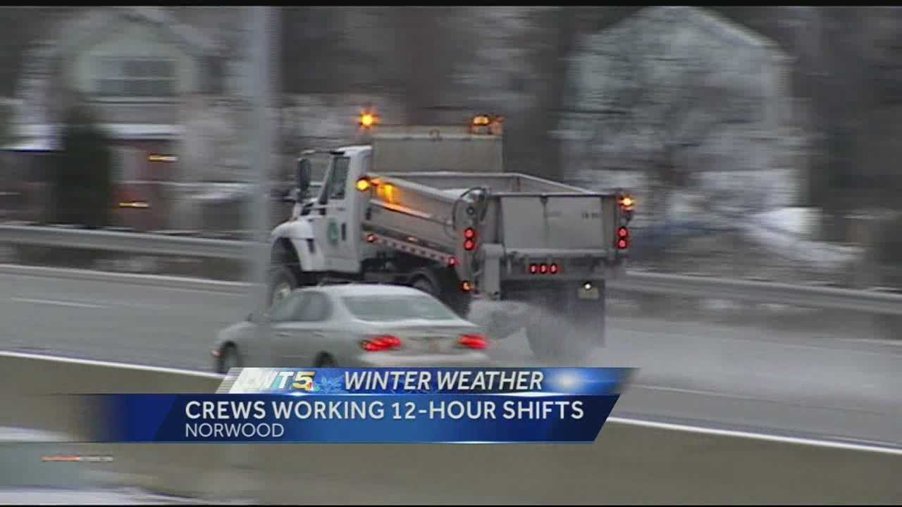 Cincinnati road crews will be rotating in 12 hour shifts and adding treatments to the salt to aid in the snow maintenance.