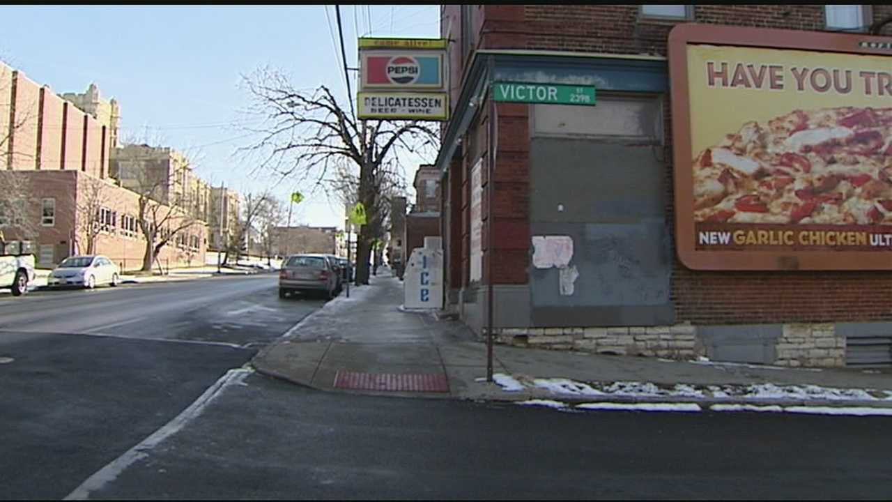 According to Cincinnati police, three men robbed four victims at gunpoint in the 2300 block of Victor Street around 11:45 p.m. Friday.