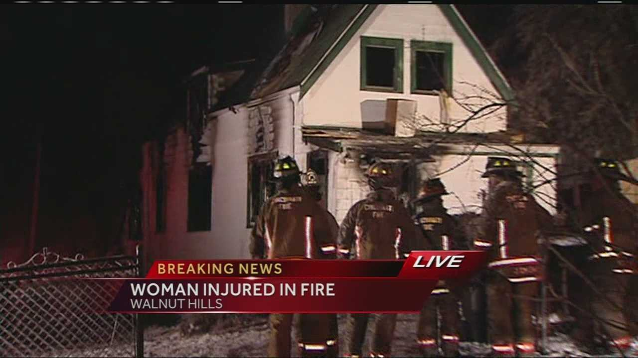 Woman injured in Walnut Hills house fire