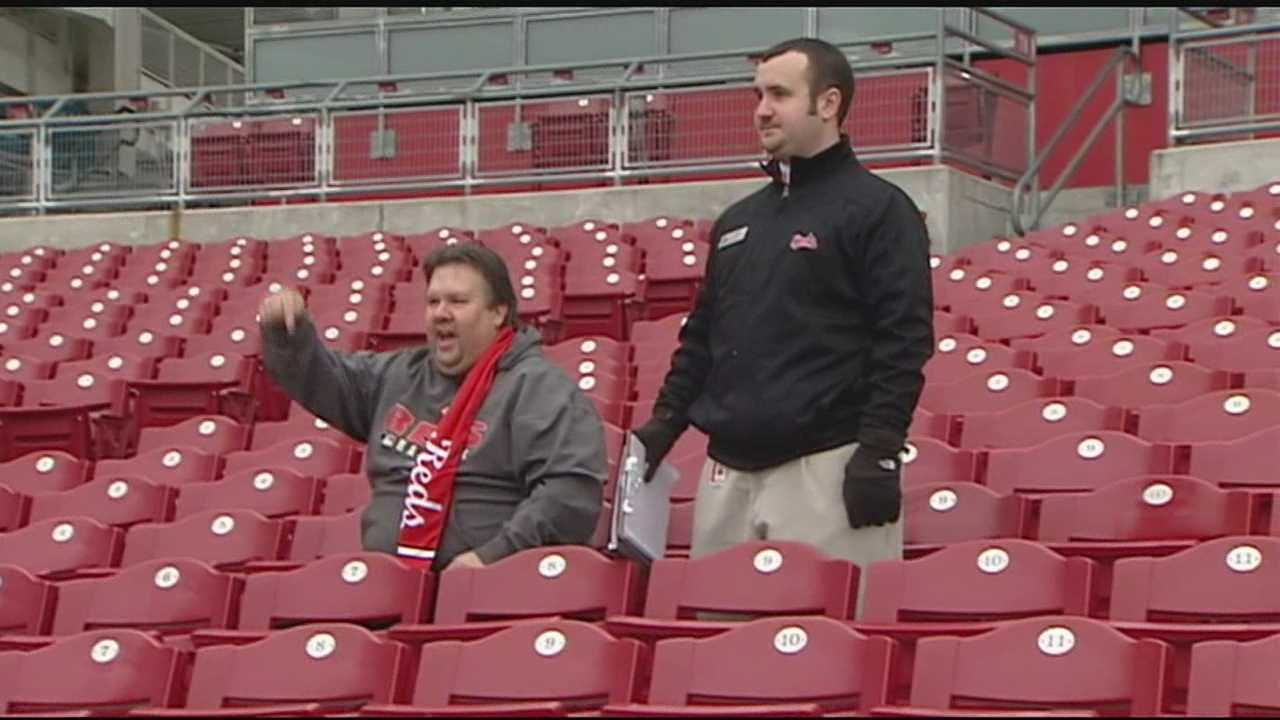Reds fans buying ticket plans for the 2014 season got to choose their seats at the annual Select-A-Seat event Sunday.