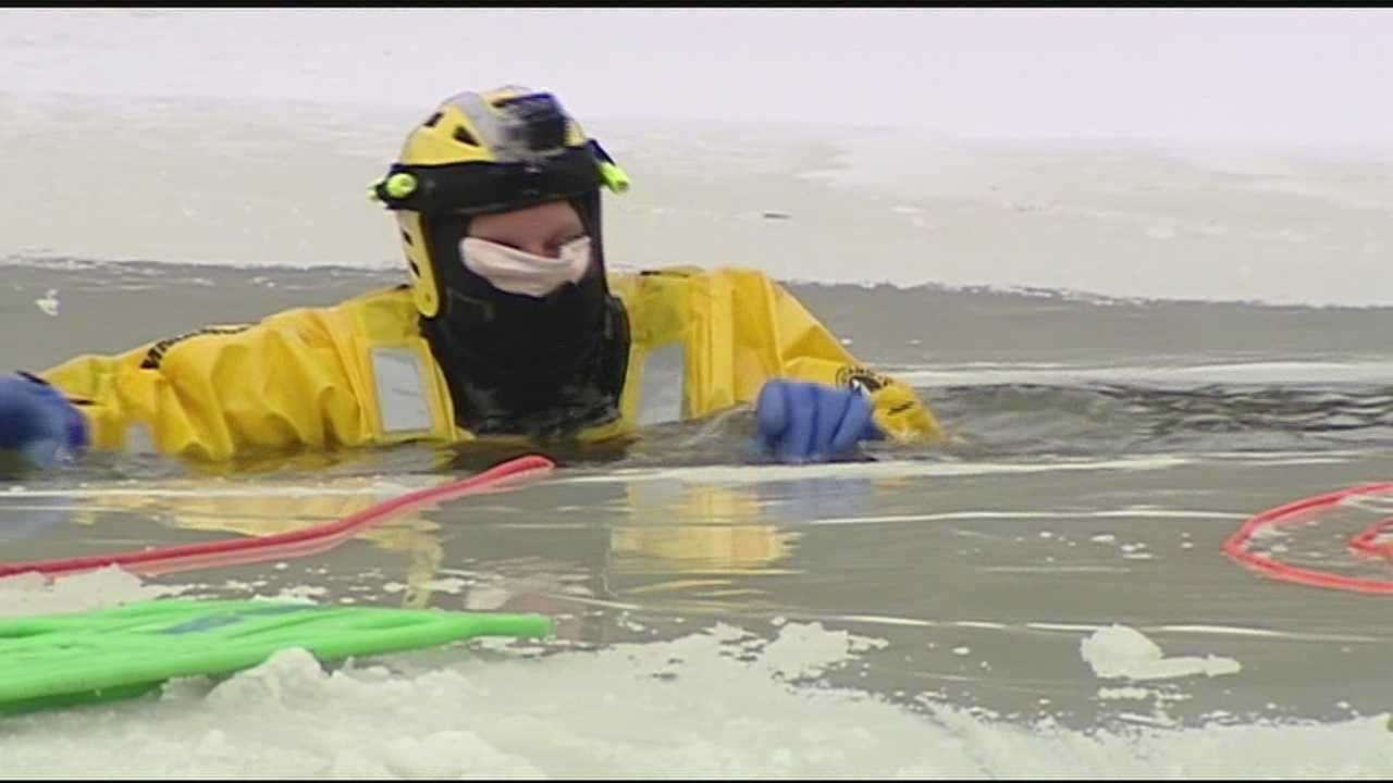 Springfield Township firefighters train for cold rescues