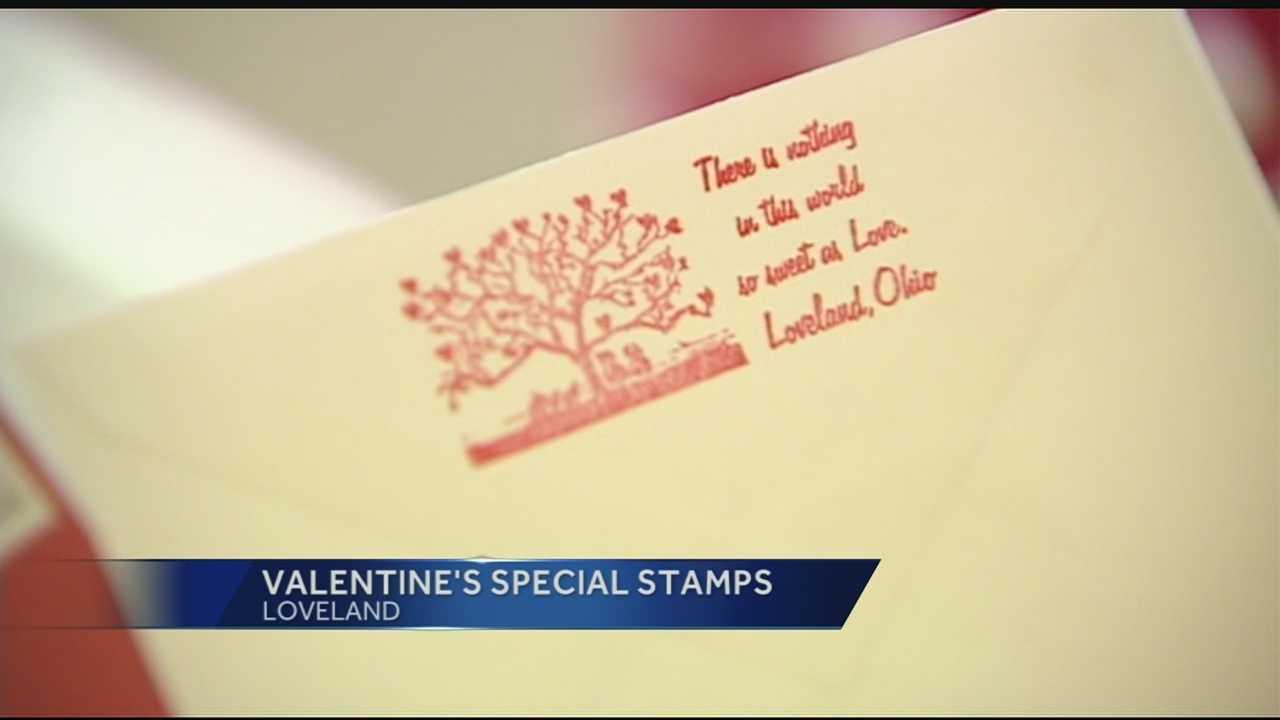 Loveland post office stamp