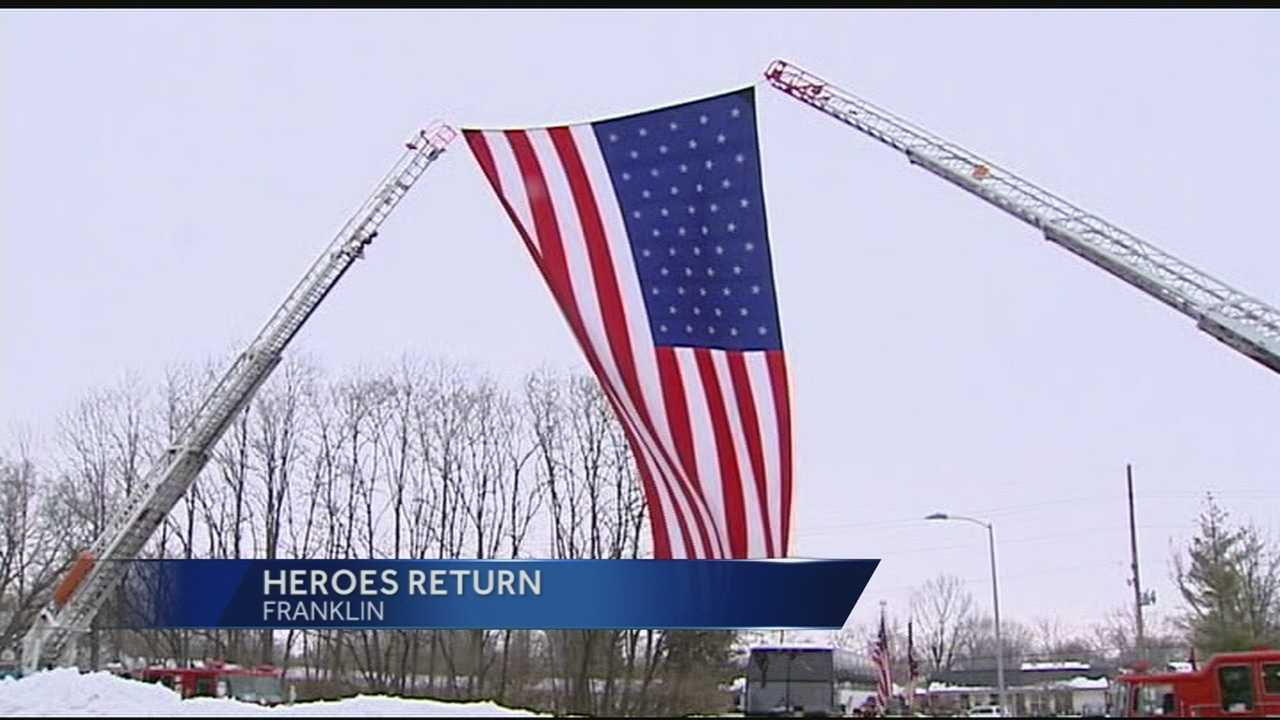 Families, Franklin County HS welcome home soldiers