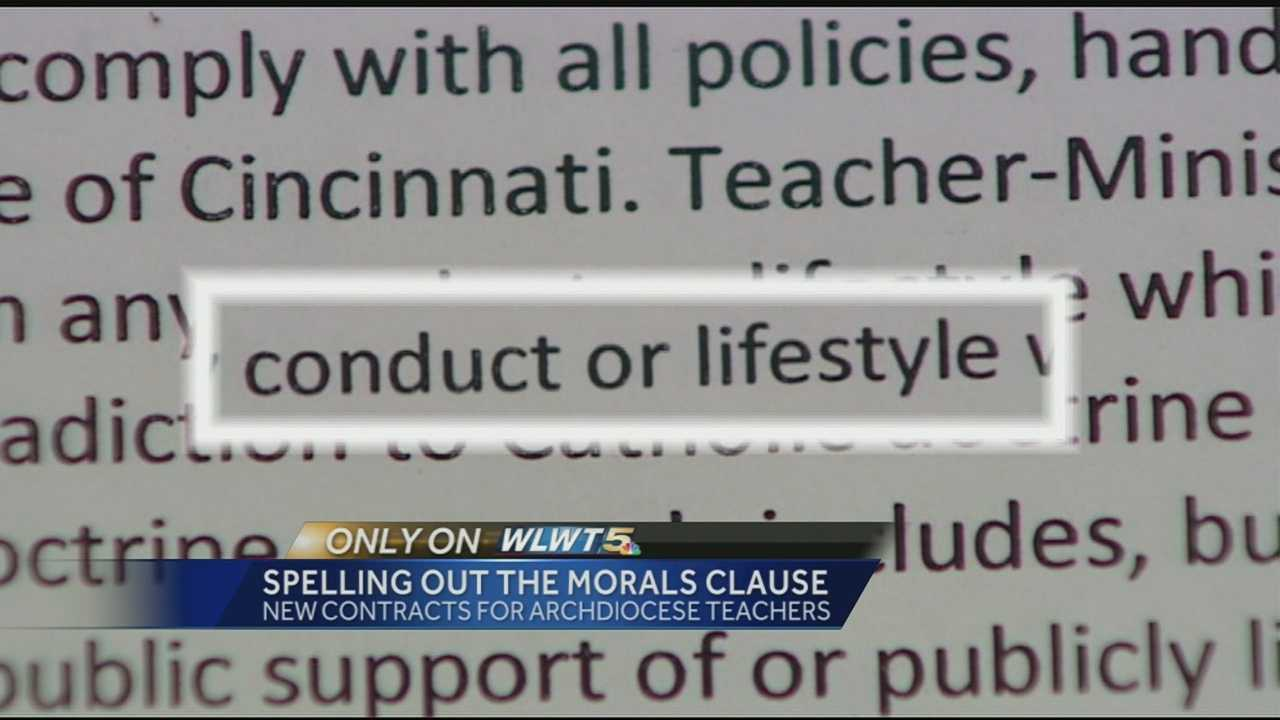 Cincinnati Archdiocese bulking up morality clause in teacher contracts