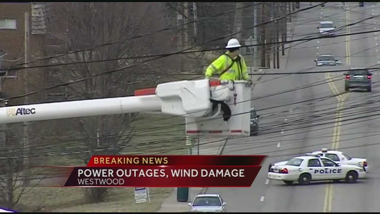 Heavy winds Friday caused damage all across the Tri-State. It knocked power lines and trees down. More than 8,000 homes were left without power from the wind storm.