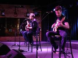 A popular country music duo from the NBC show The Voice entertained fans in Cincinnati. The Swon Brothers placed third in the singing competition. They held a concert for fans at Toby Keith's at The Banks Monday night.