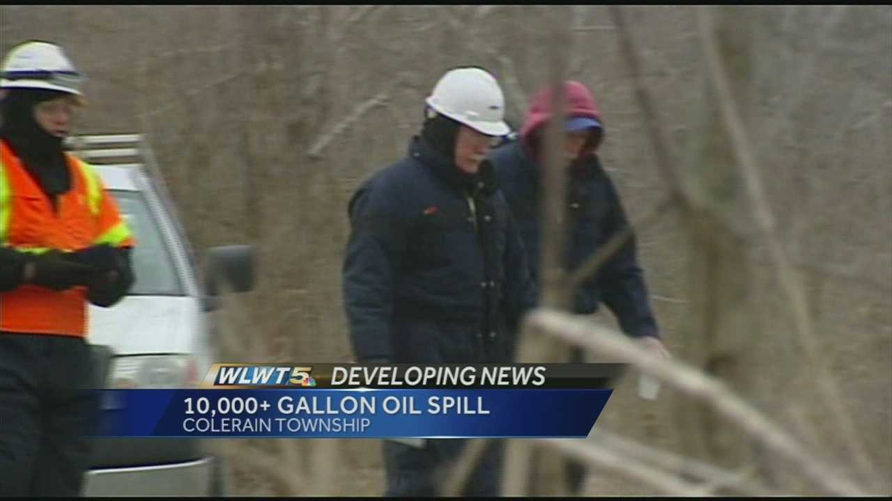 Colerain Twp. oil spill cleanup continues