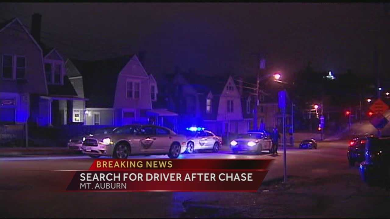 Driver sought after 2-county chase ends in Mt. Auburn