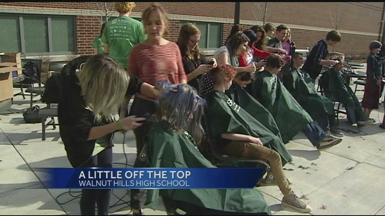 Walnut Hills students shave their heads for a good cause
