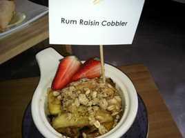 Rum raisin cobbler