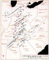 NOAA's determination of the tornado paths