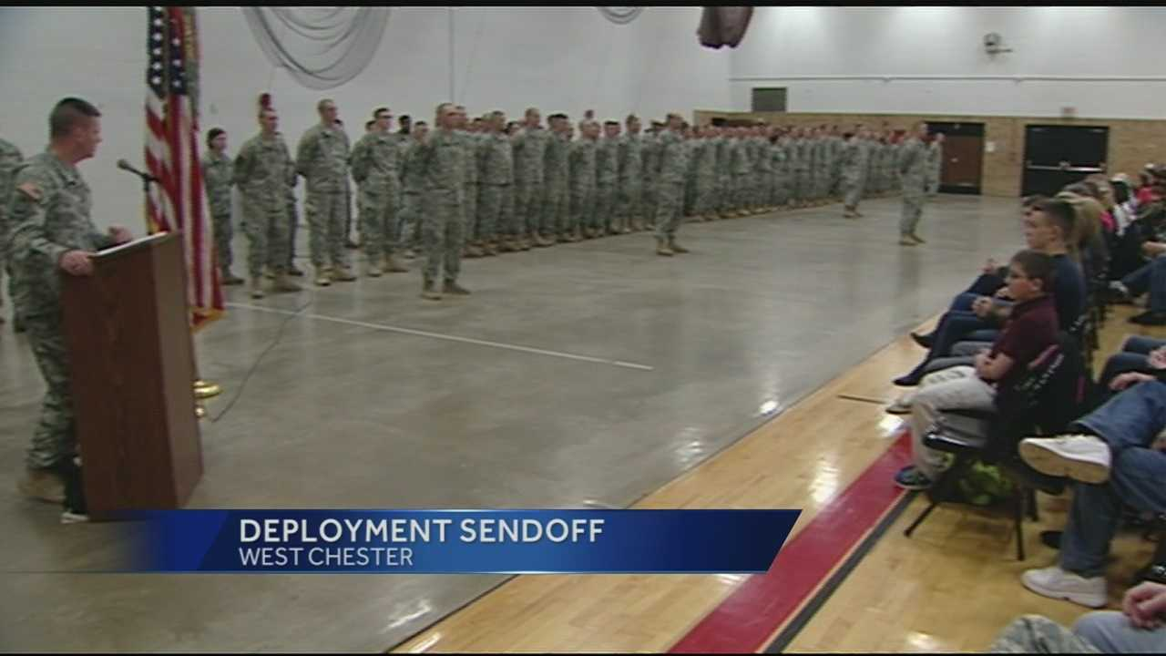 Family, friends on hand to wish engineer company well before deploying