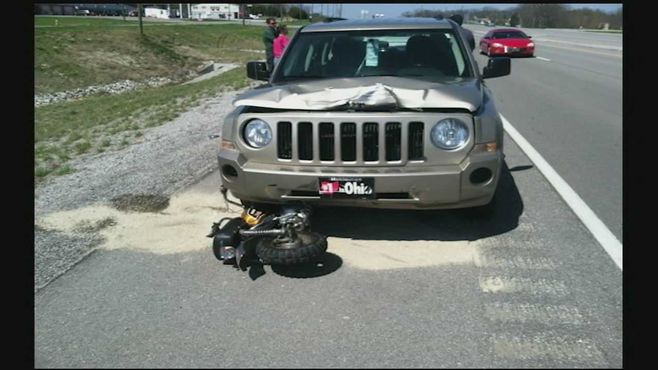 2 girls remain in hospital after bike struck by Jeep near Alexandria